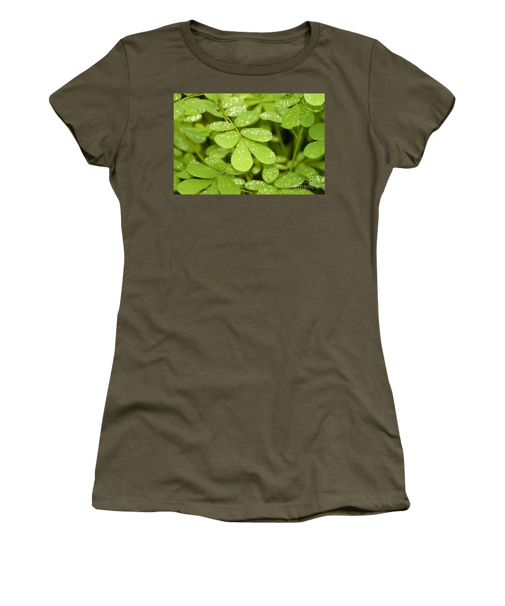 Green Women's T-Shirt (Athletic Fit) featuring the photograph Green by David Lee Thompson