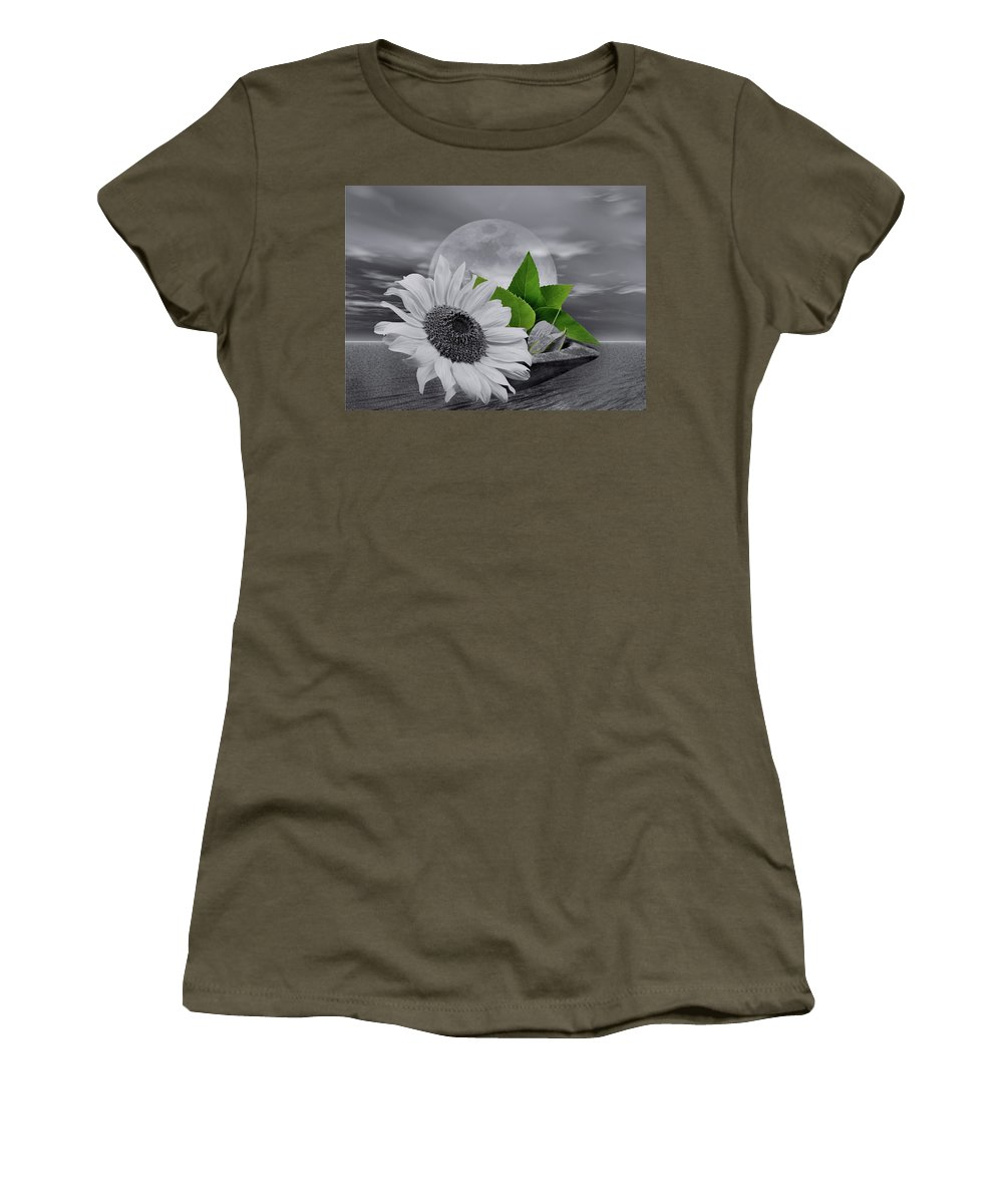 Green Women's T-Shirt (Athletic Fit) featuring the photograph Green by Manfred Lutzius
