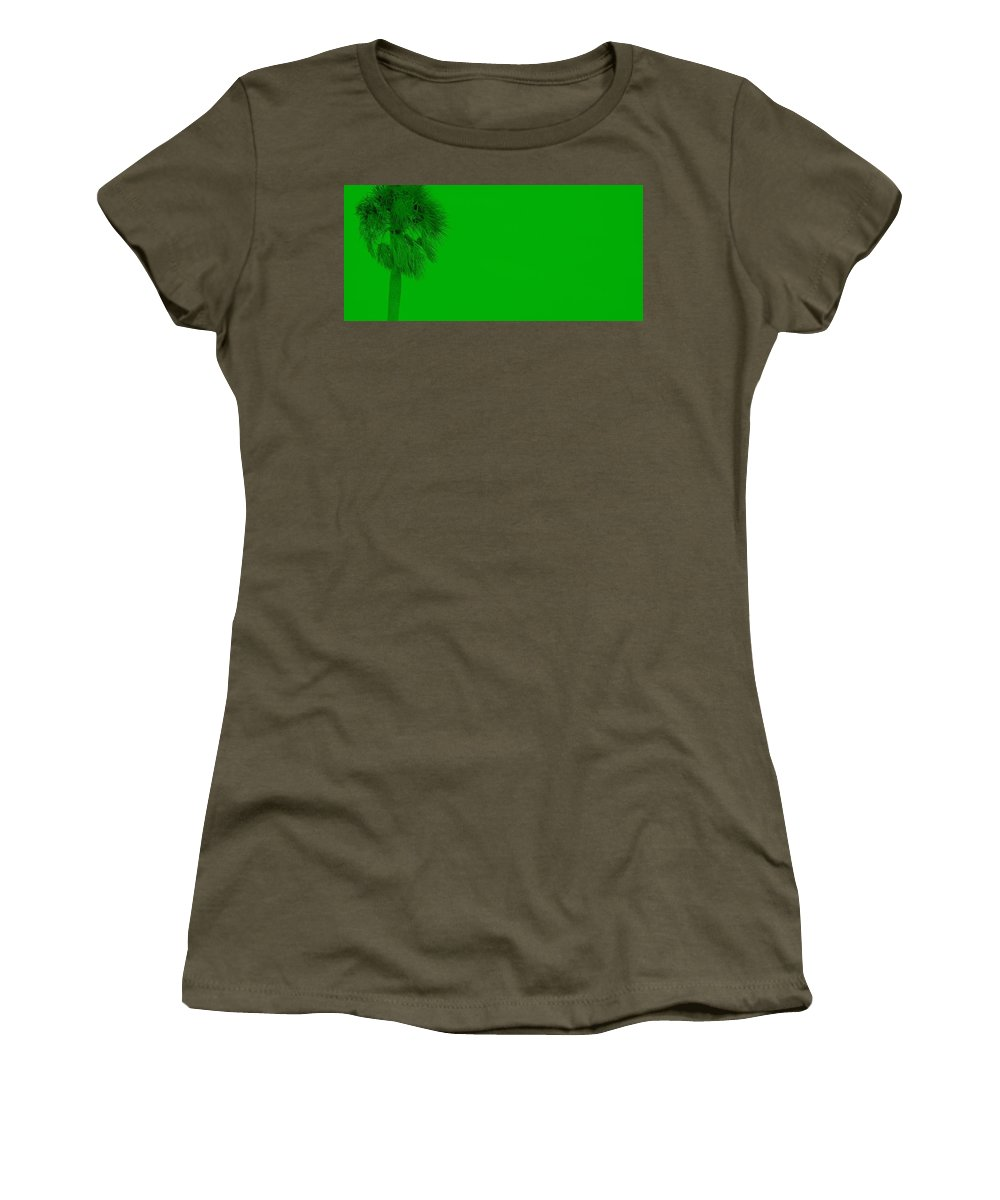 Landscape Women's T-Shirt (Athletic Fit) featuring the photograph Green Palm by Ed Smith