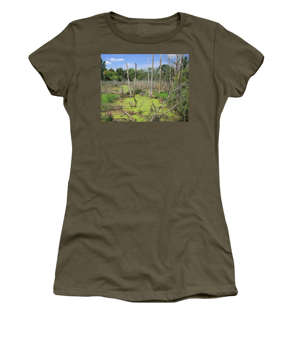 Landscape Women's T-Shirt (Athletic Fit) featuring the photograph Green Pea Soup by Robert Pearson
