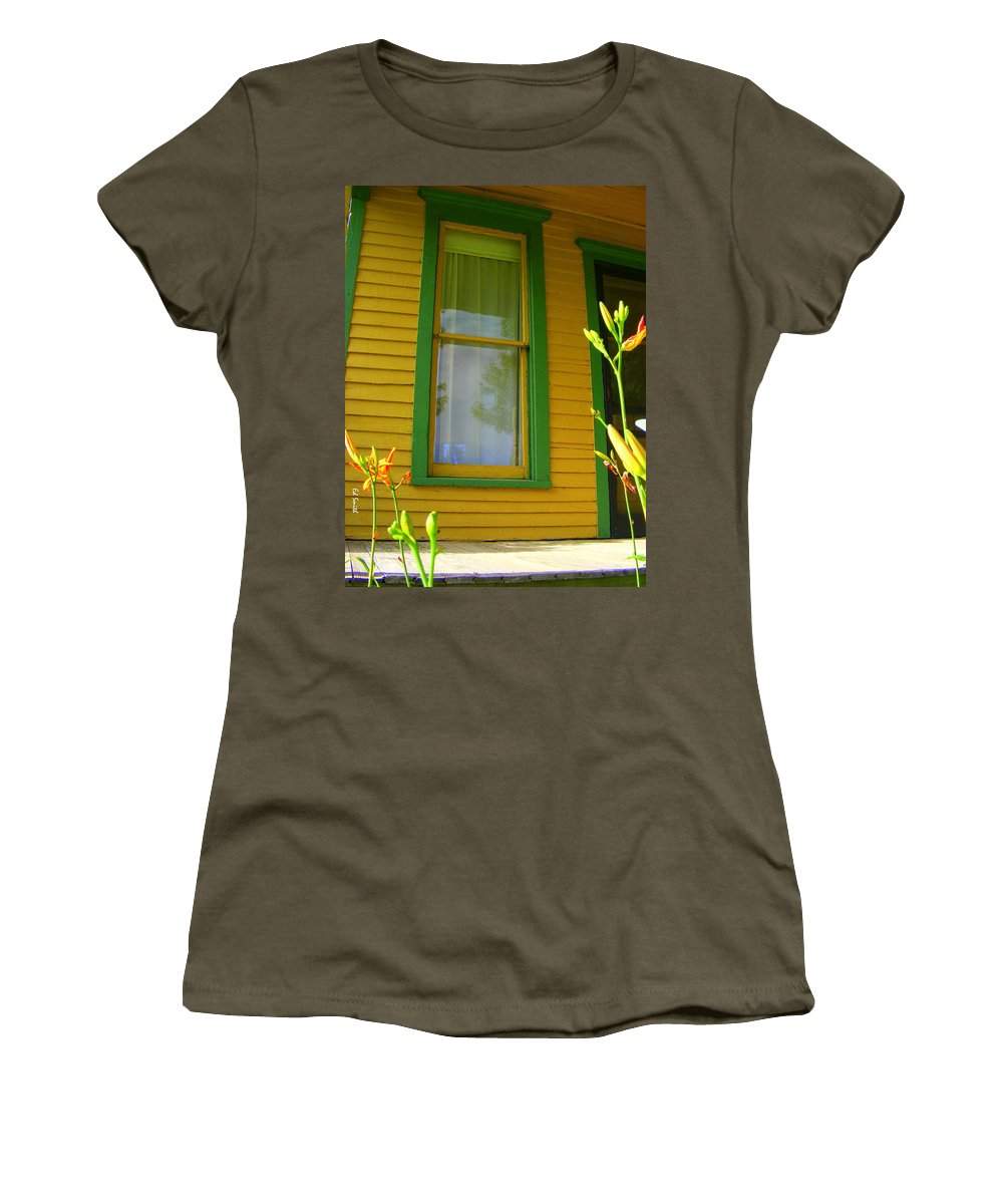 Green Window Women's T-Shirt featuring the photograph Green Window by Ed Smith