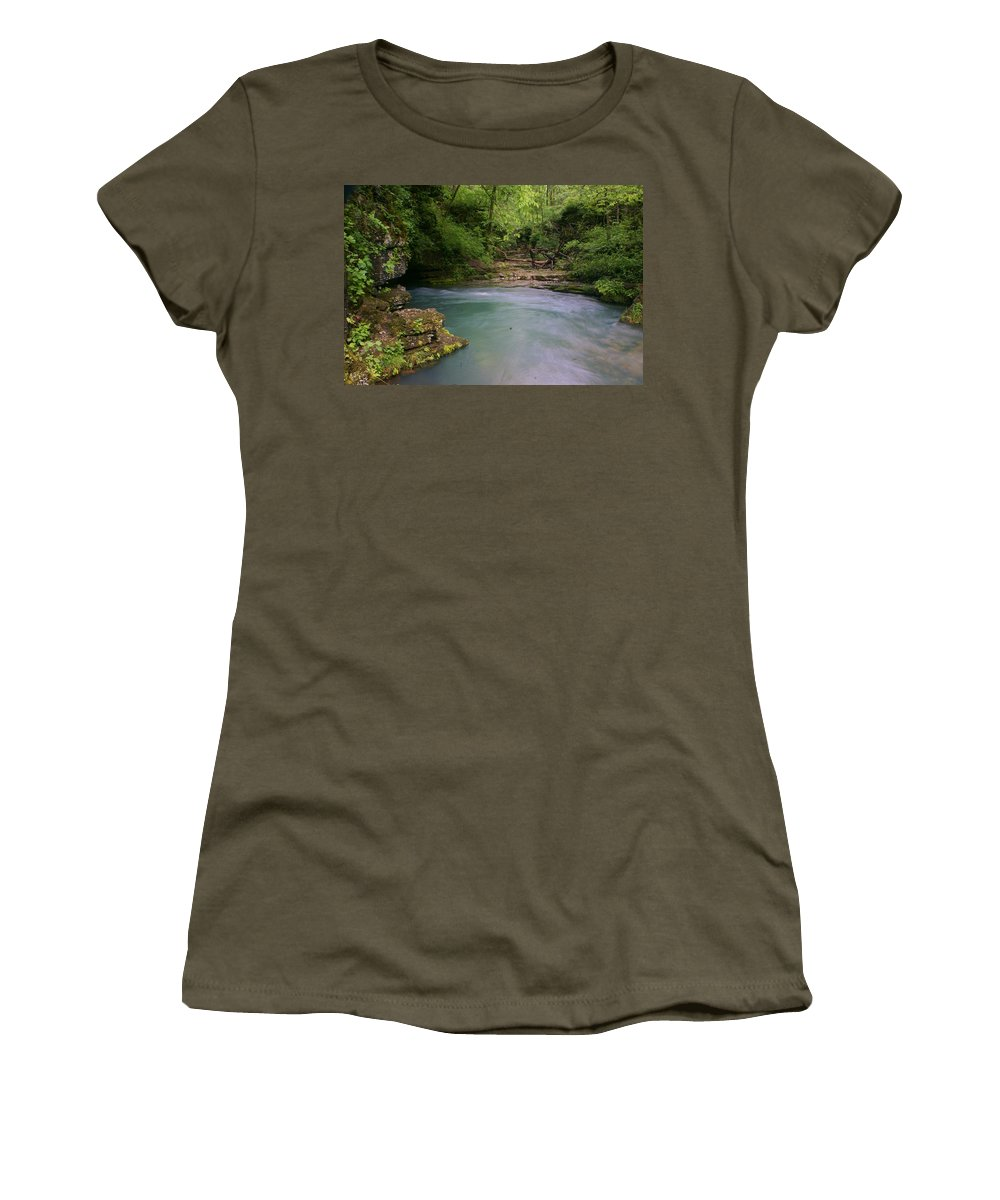Greer Spring Women's T-Shirt featuring the photograph Greer Spring by Marty Koch