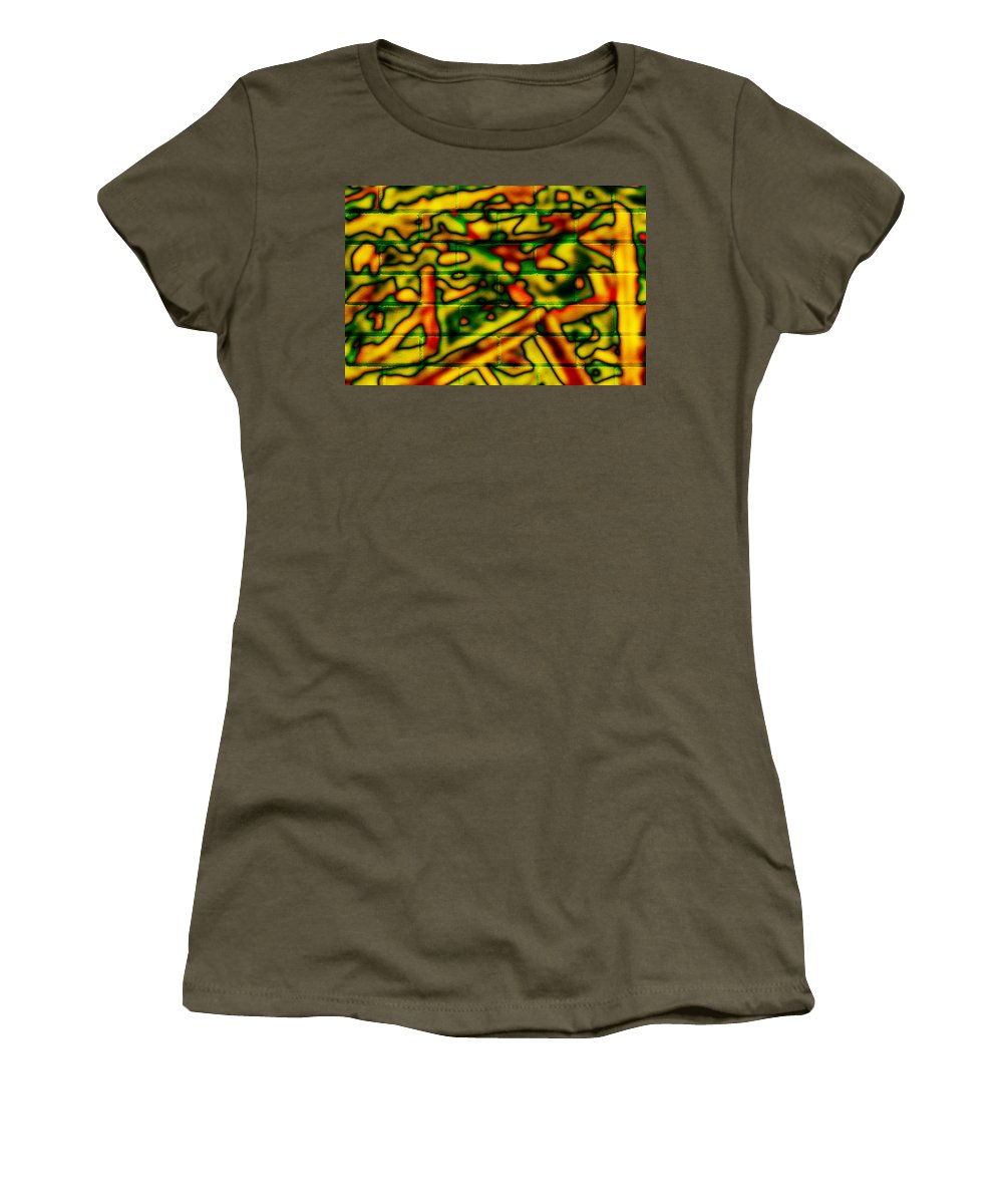 Digital Women's T-Shirt featuring the photograph Grunge Graffiti by Phill Petrovic