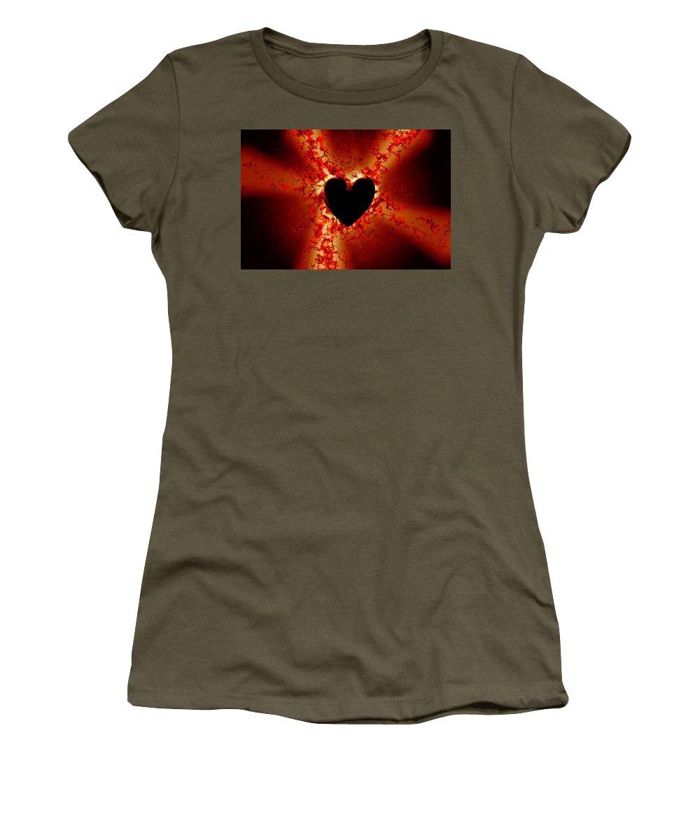Grunge Women's T-Shirt featuring the digital art Grunge Heart by Phill Petrovic