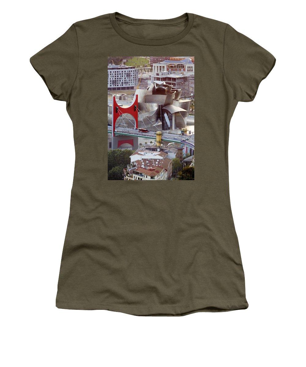 Spain Women's T-Shirt (Athletic Fit) featuring the photograph Guggenheim Bilbao Museum II by Rafa Rivas
