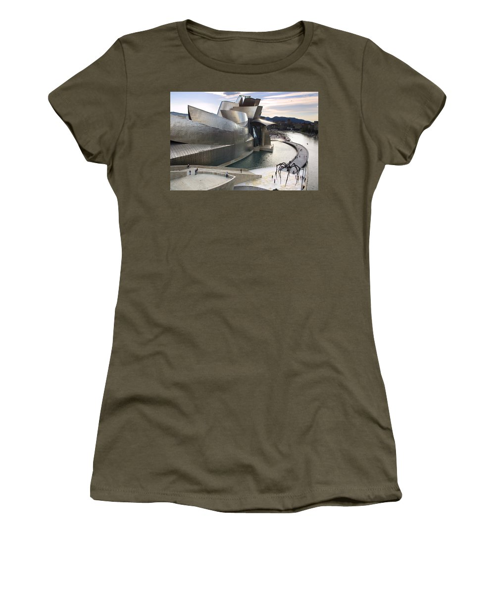 Spain Women's T-Shirt featuring the photograph Guggenheim Bilbao Museum by Rafa Rivas