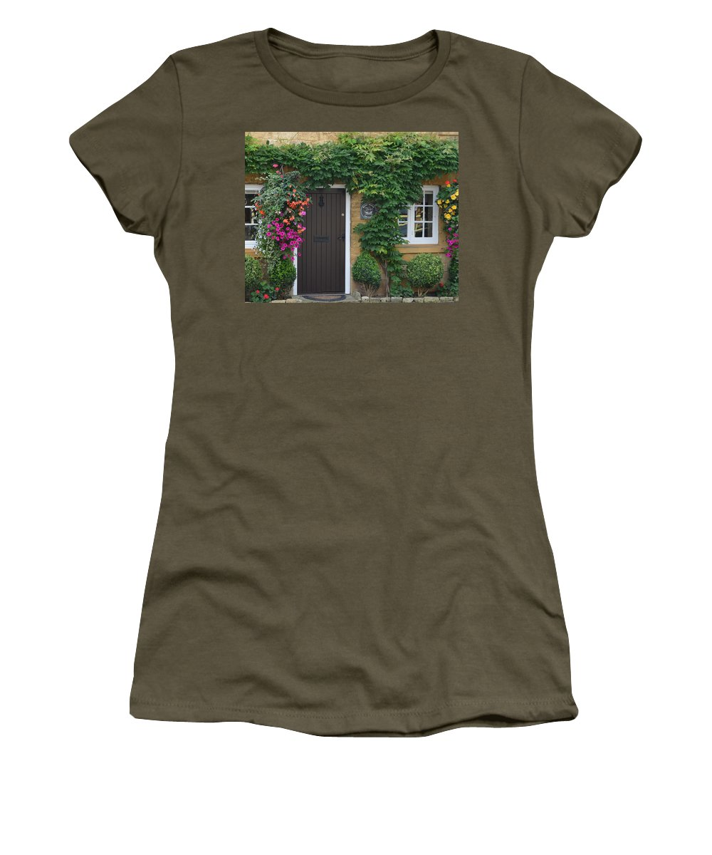 Cotswolds Women's T-Shirt featuring the photograph Half Penny Cottage by Carla Parris