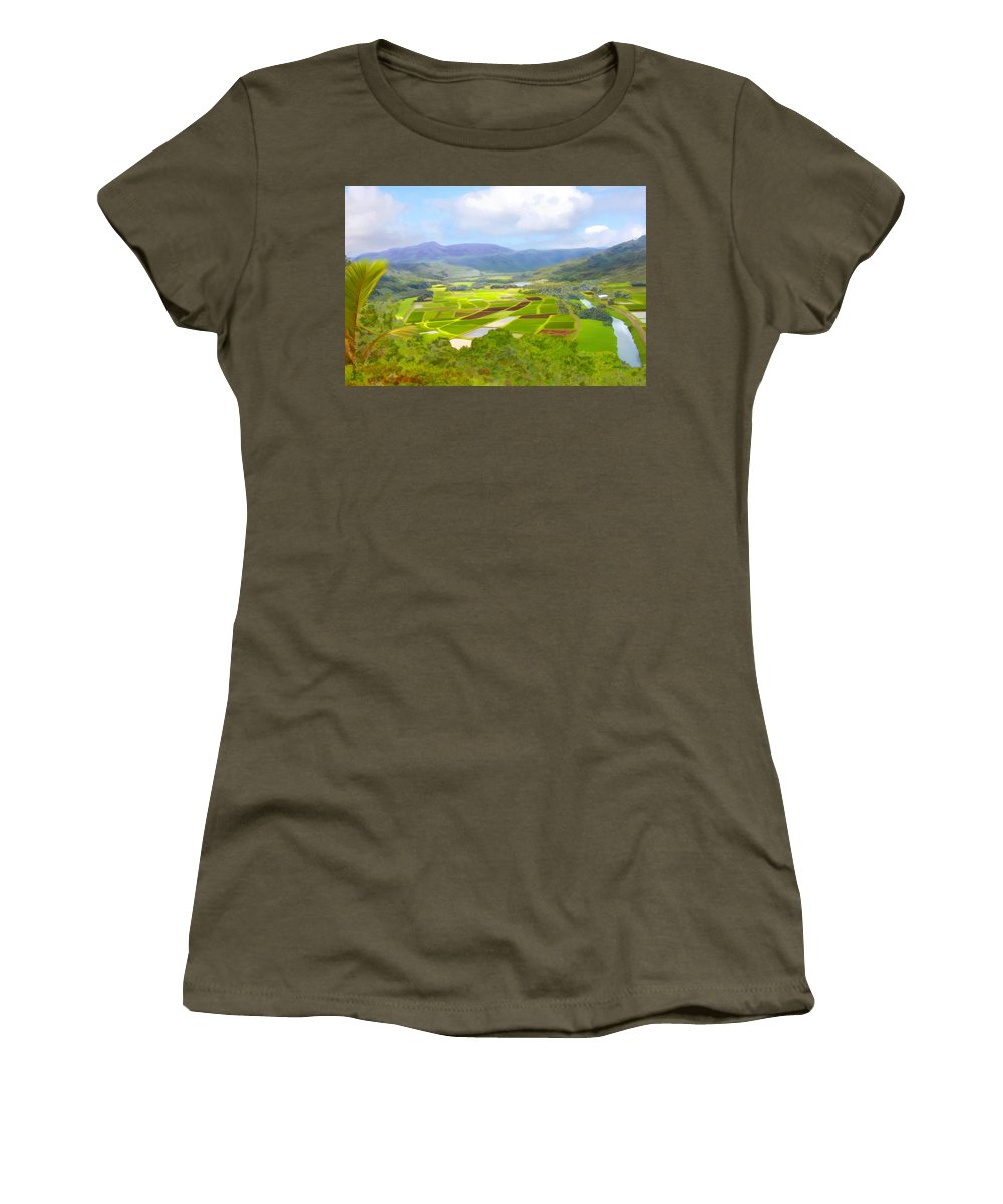 Hawaii Women's T-Shirt (Athletic Fit) featuring the photograph Hanalai by Kurt Van Wagner