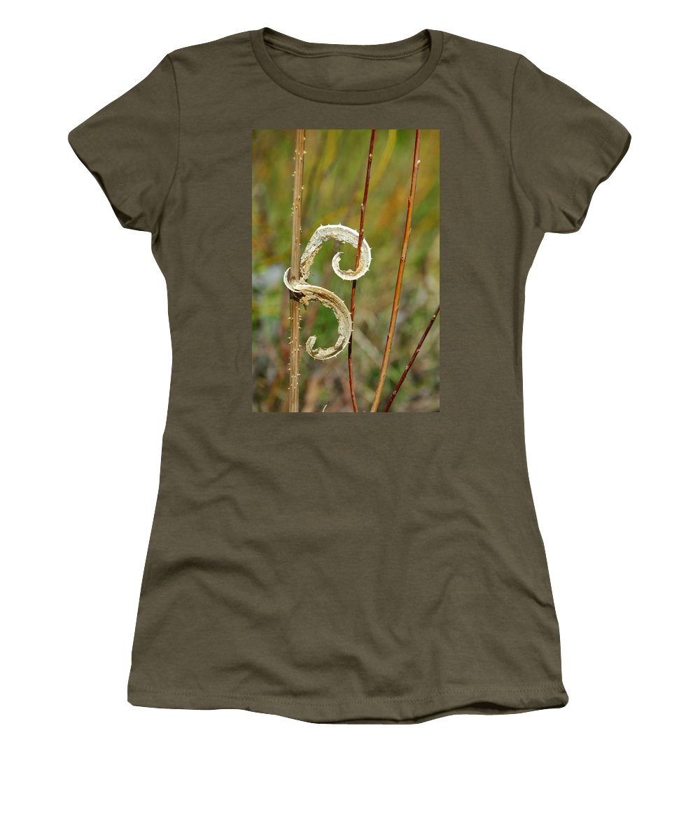 Botanical Women's T-Shirt (Athletic Fit) featuring the photograph Handcuffed by Donna Blackhall