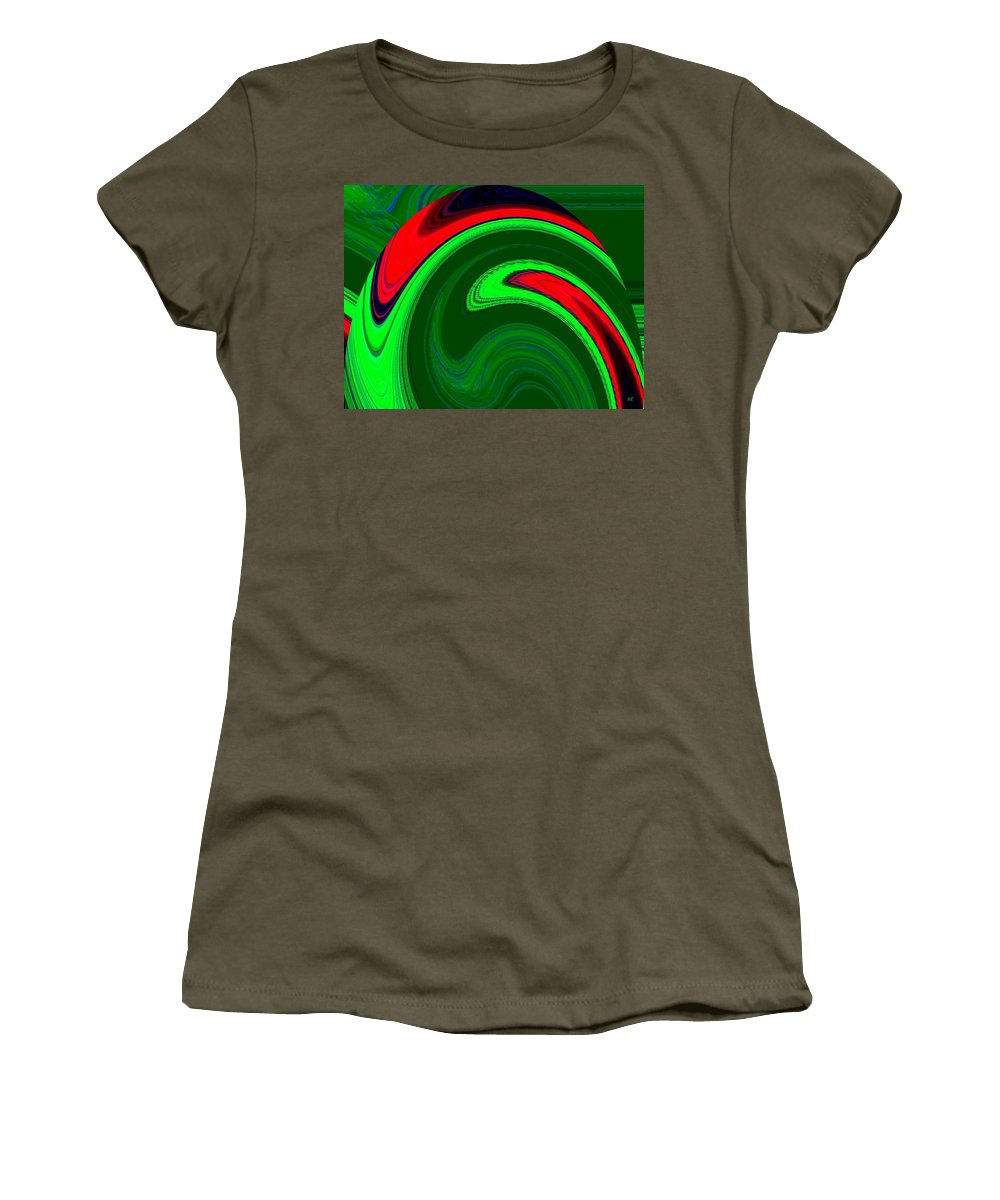 Abstract Women's T-Shirt featuring the digital art Harmony 20 by Will Borden
