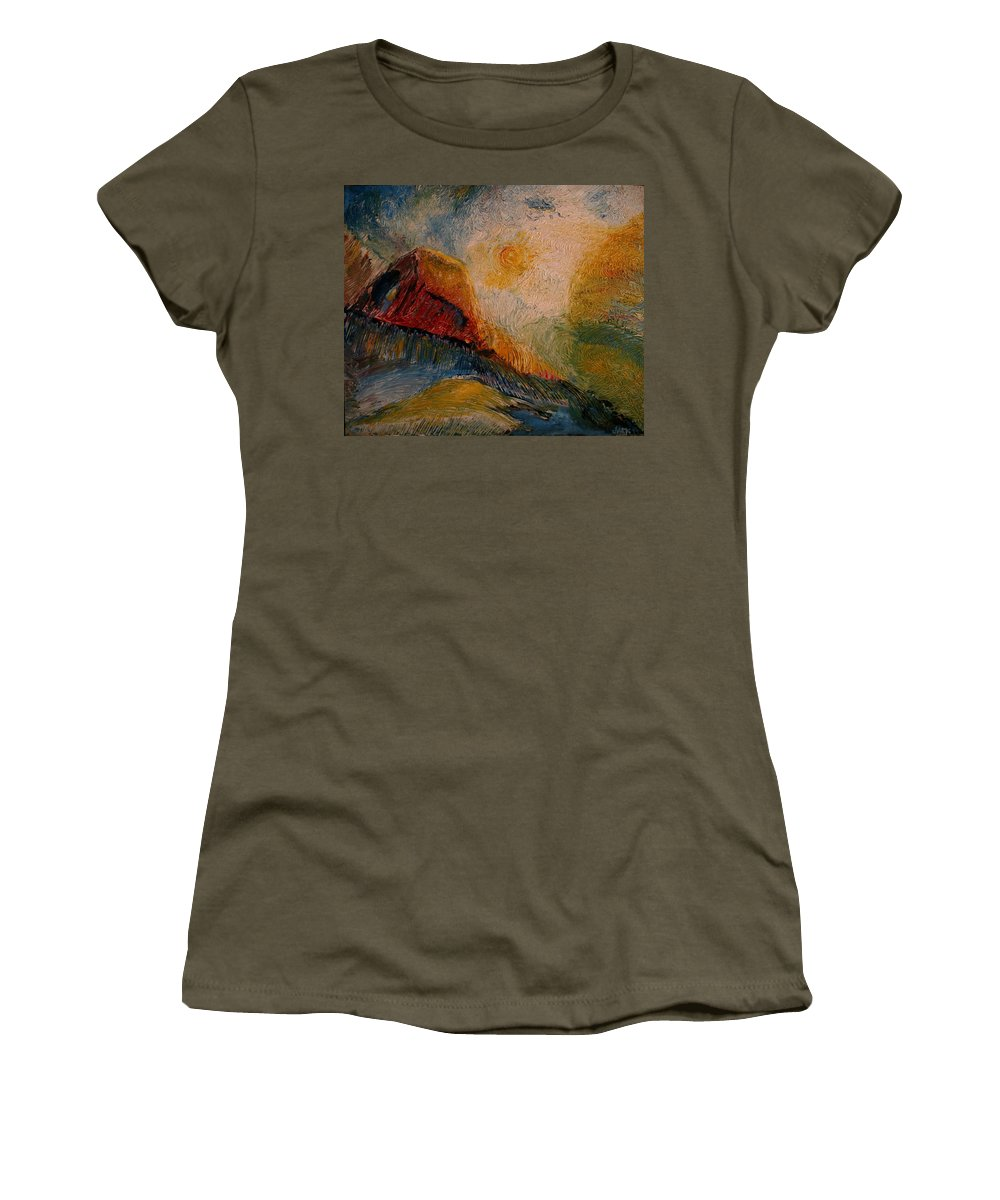 Rede Women's T-Shirt (Athletic Fit) featuring the painting Harvast by Jack Diamond