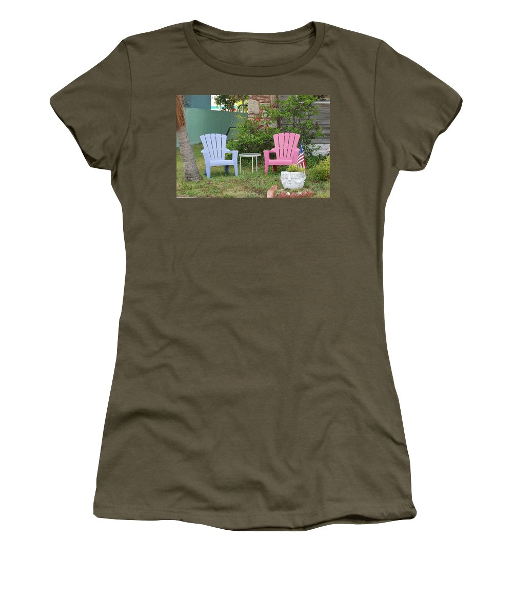 Art Deco Women's T-Shirt (Athletic Fit) featuring the photograph Have A Seat by Rob Hans