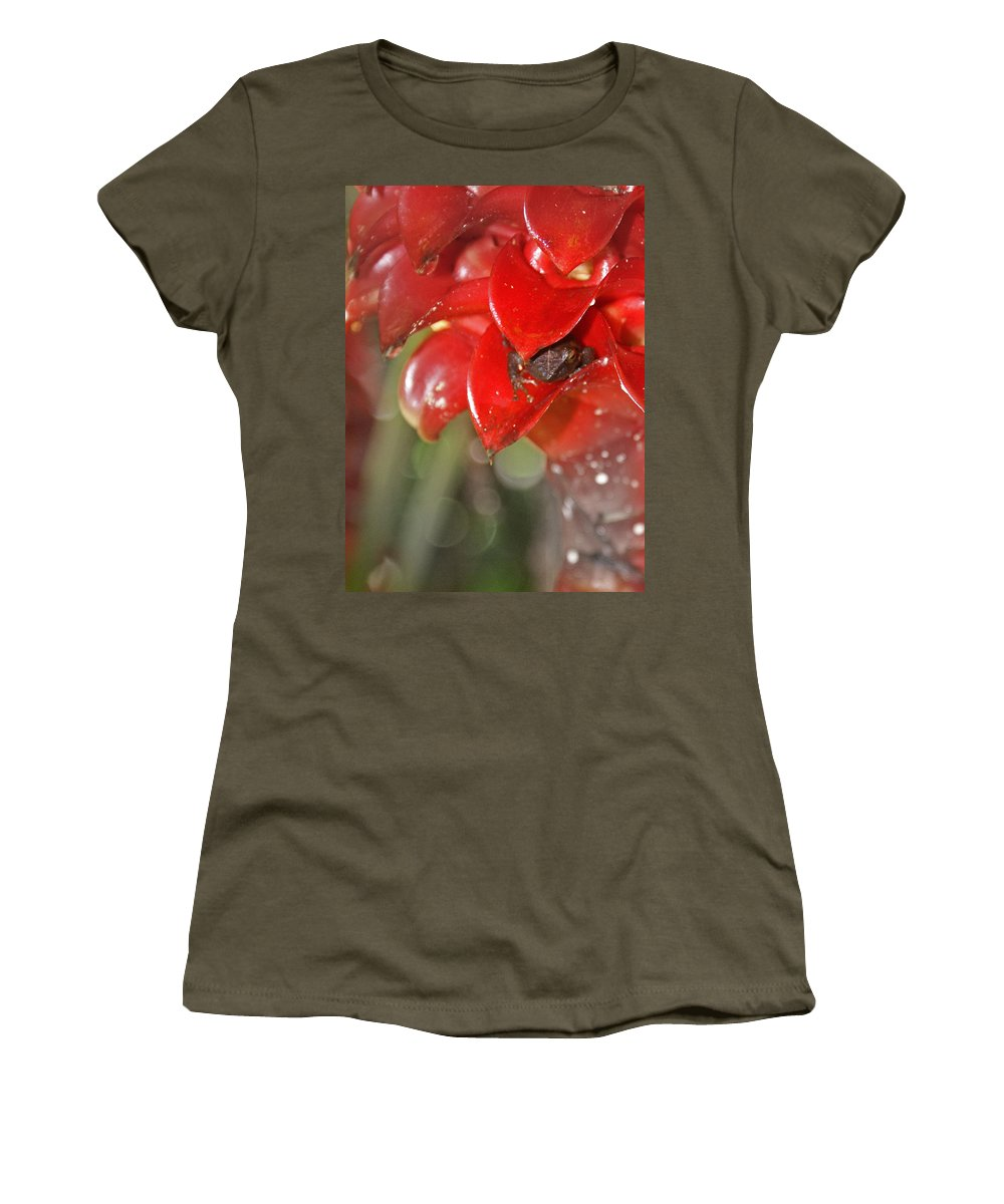 Frog Women's T-Shirt (Athletic Fit) featuring the digital art Hawaiian Frog by Heather Coen