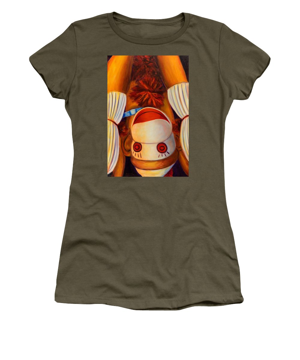 Children Women's T-Shirt (Athletic Fit) featuring the painting Head-over-heels by Shannon Grissom