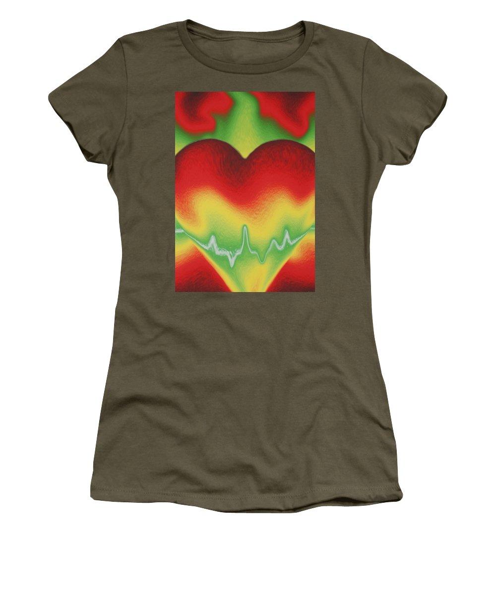 Heart Women's T-Shirt featuring the photograph Heart Beat by Rob Hans