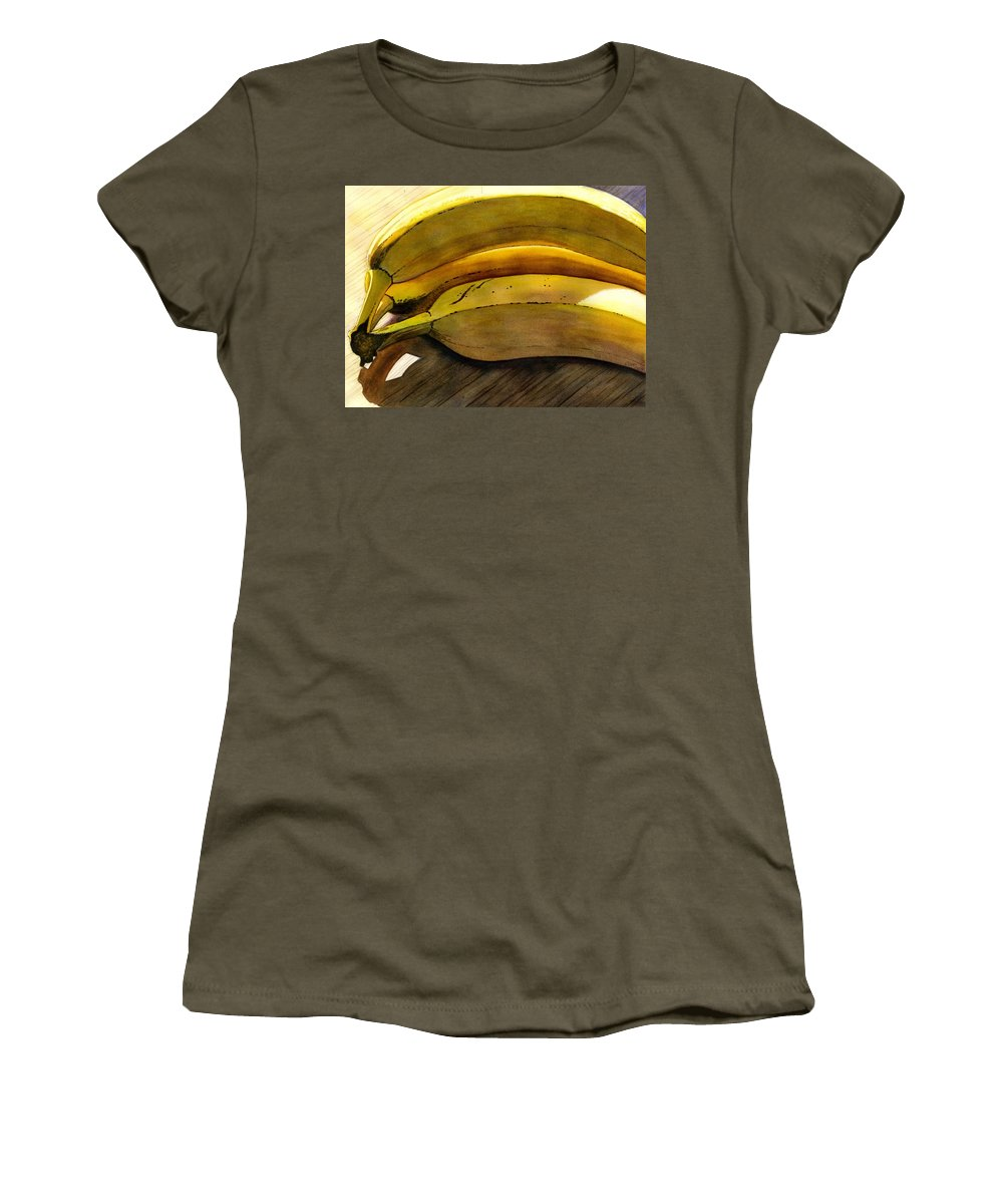 Bananas Women's T-Shirt (Athletic Fit) featuring the painting Heart Smart by Catherine G McElroy
