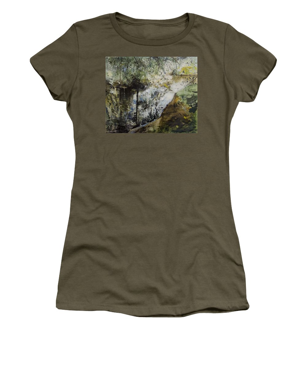 Water Women's T-Shirt featuring the painting Heat And Shade by Calum McClure