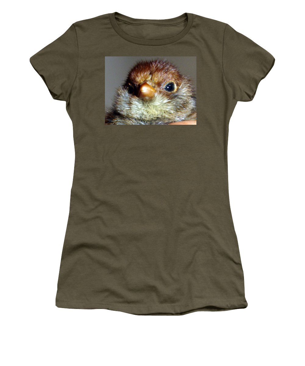 Chick Women's T-Shirt featuring the photograph Hello Chick by Susan Baker