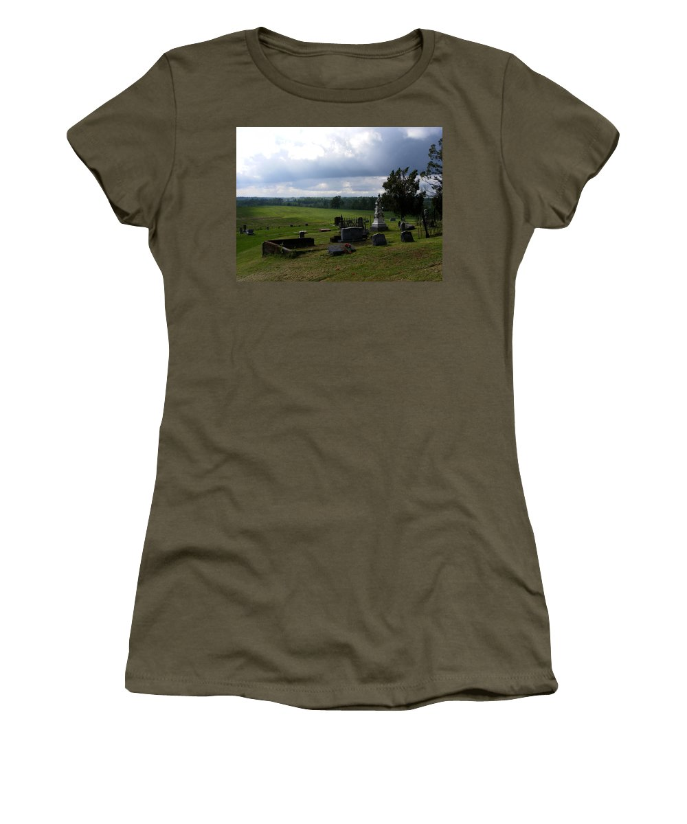 Landscape Women's T-Shirt (Athletic Fit) featuring the photograph Heroes Of Olmsted by Rachel Christine Nowicki