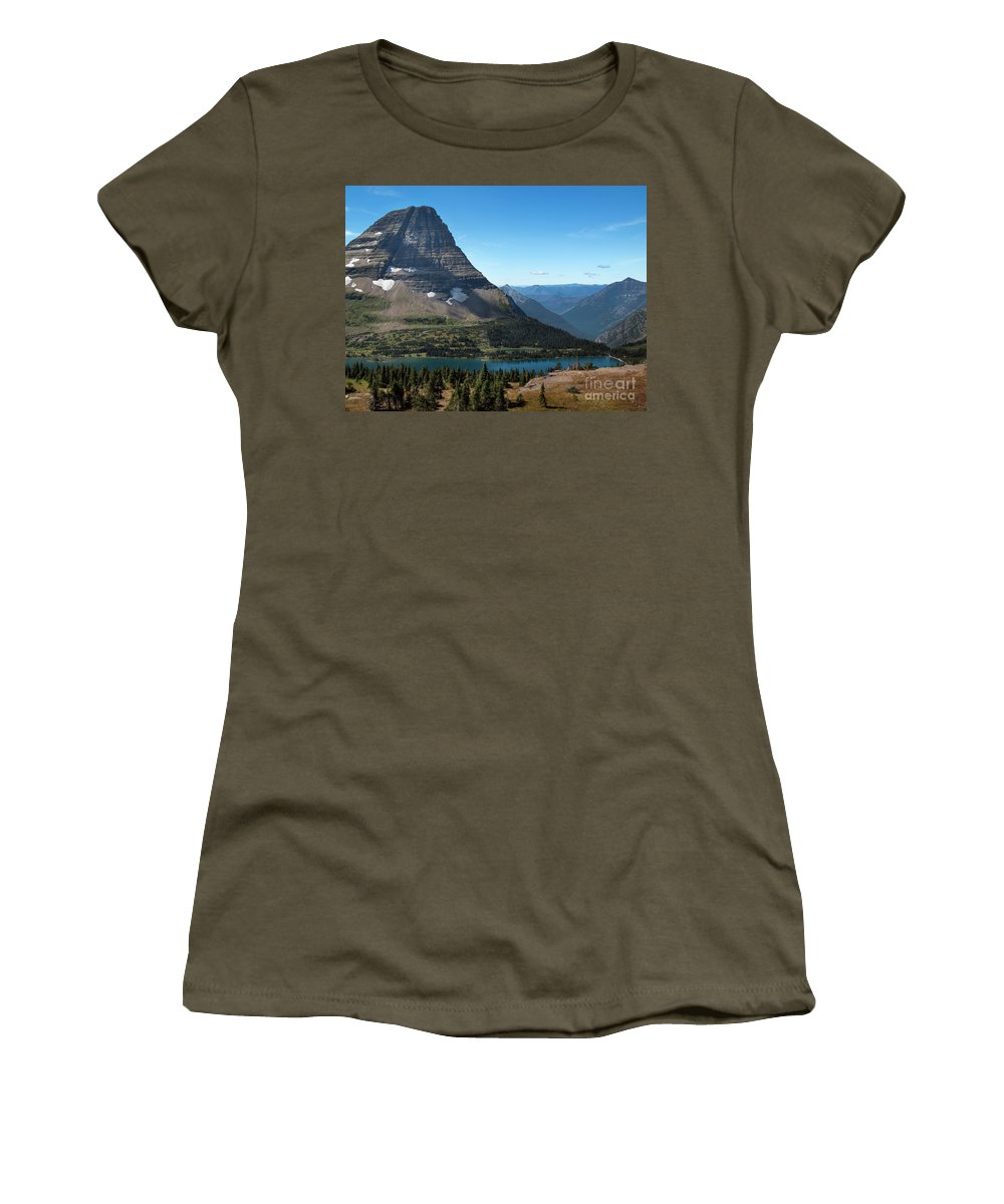 Hidden Lake Women's T-Shirt featuring the photograph Hidden Lake - Glacier National Park by Yefim Bam