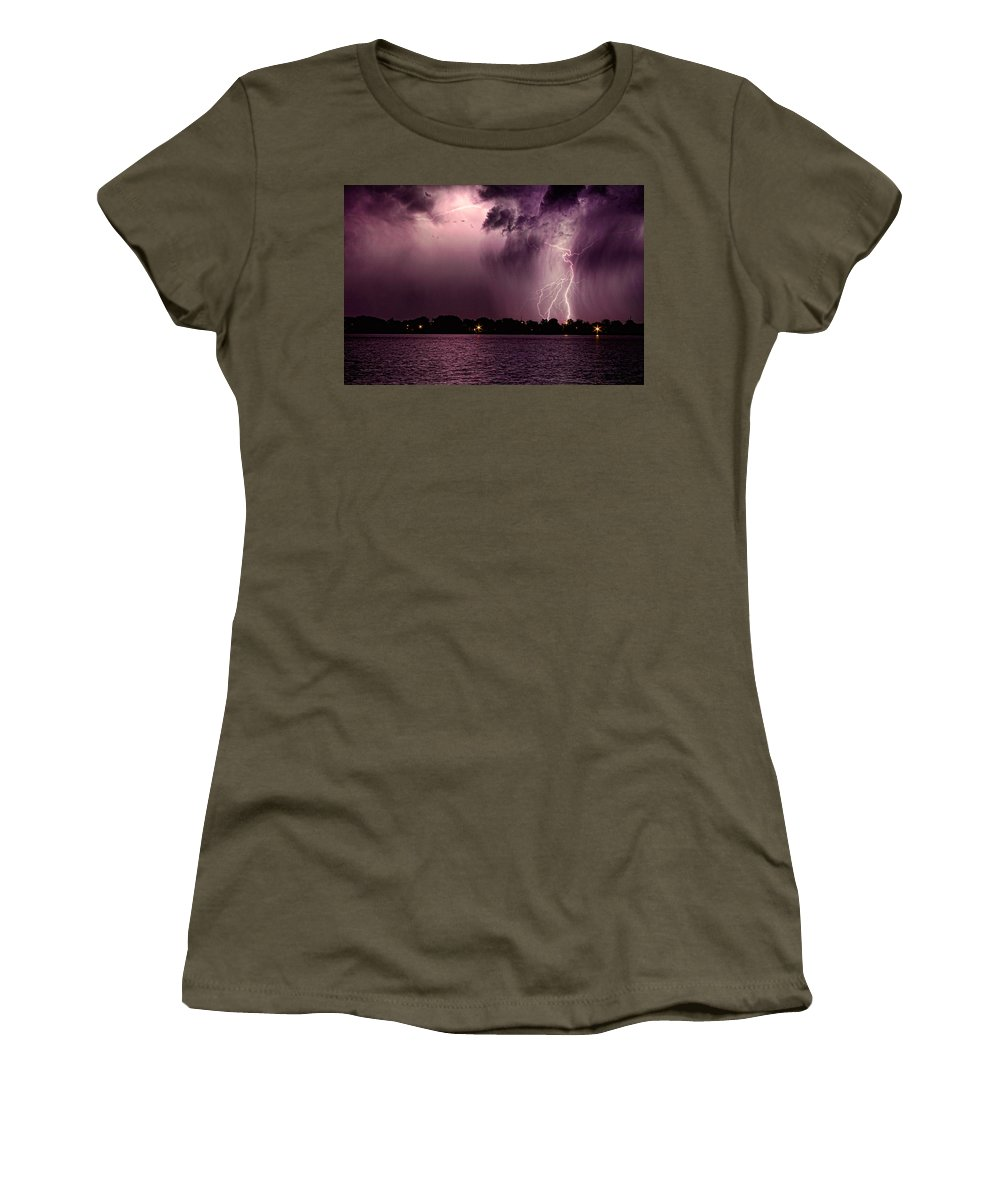 Lightning Women's T-Shirt featuring the photograph High Strike by James BO Insogna