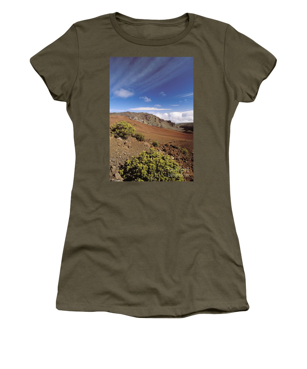Active Women's T-Shirt featuring the photograph Hikers Inside Haleakala by William Waterfall - Printscapes
