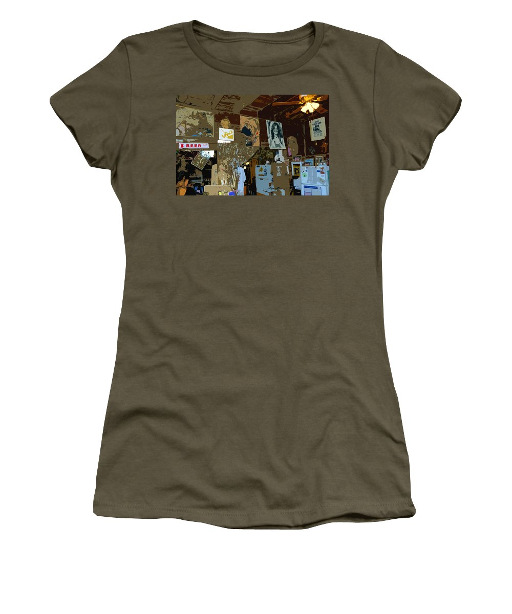 Hippies Women's T-Shirt featuring the painting Hippie Hang Out by David Lee Thompson
