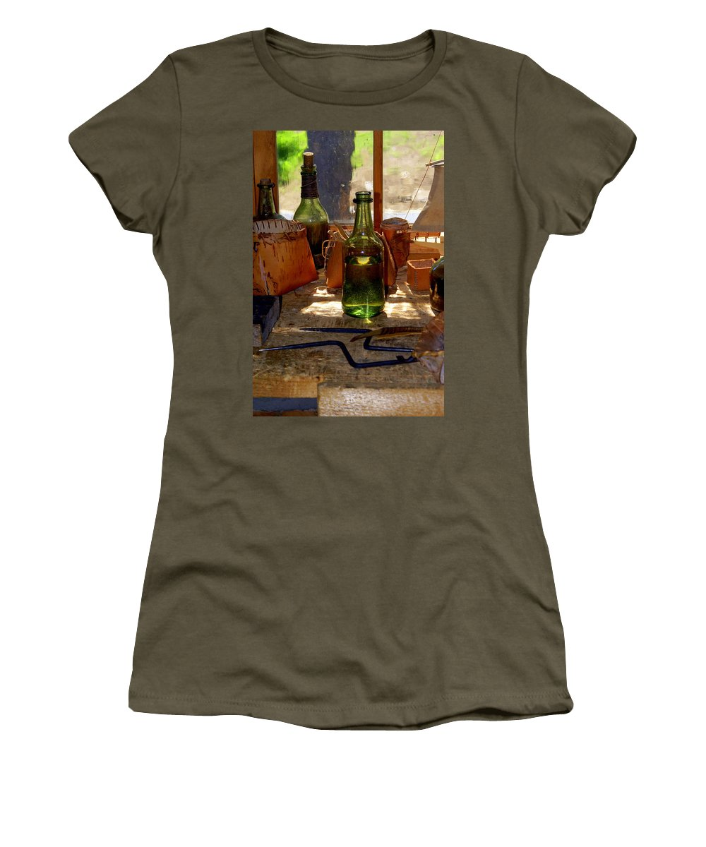 Still Life Women's T-Shirt (Athletic Fit) featuring the photograph Historic Still Llife by Marty Koch