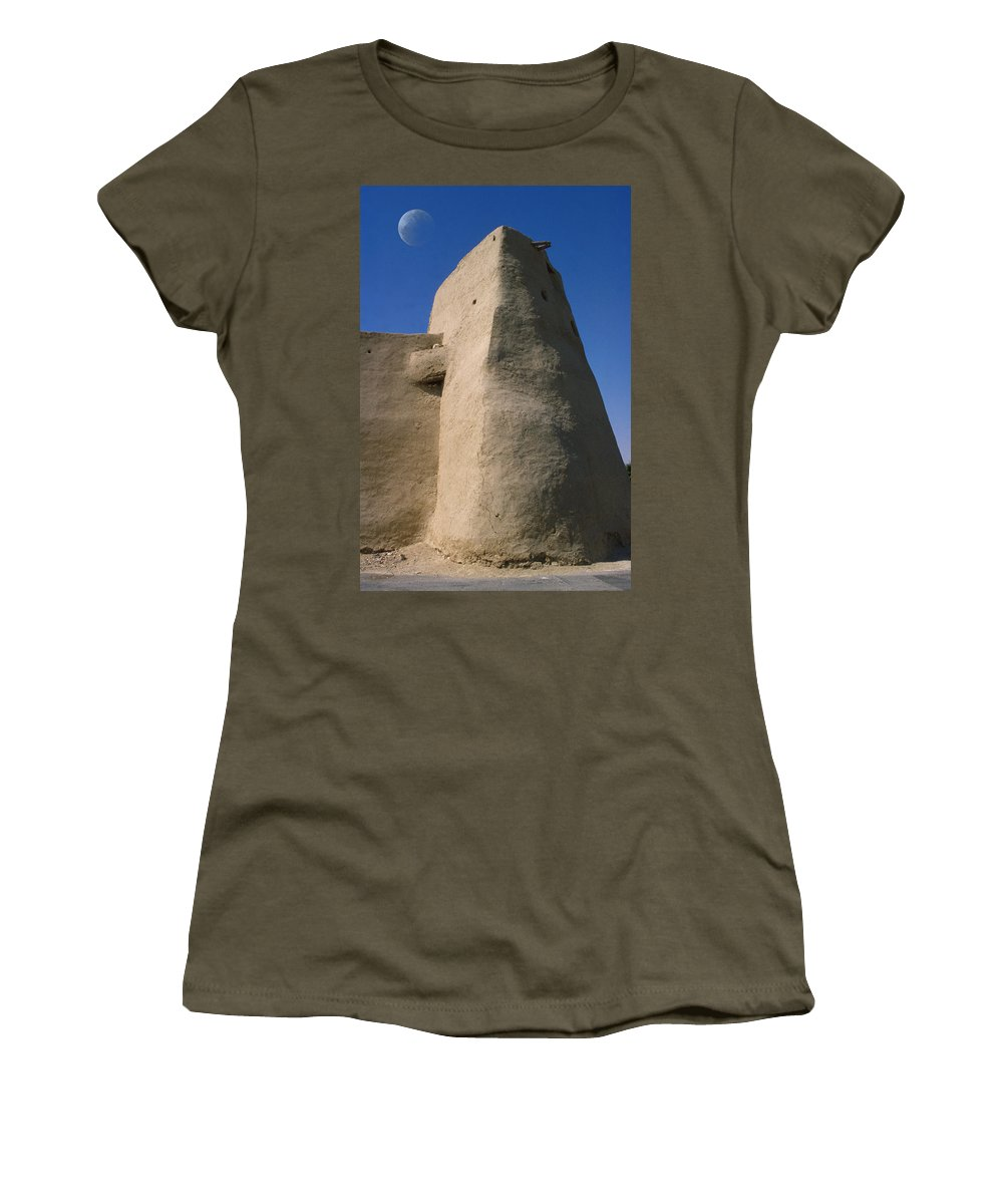 Saudi Arabia Women's T-Shirt (Athletic Fit) featuring the photograph Hofuf Saudi Arabia by Jerry McElroy