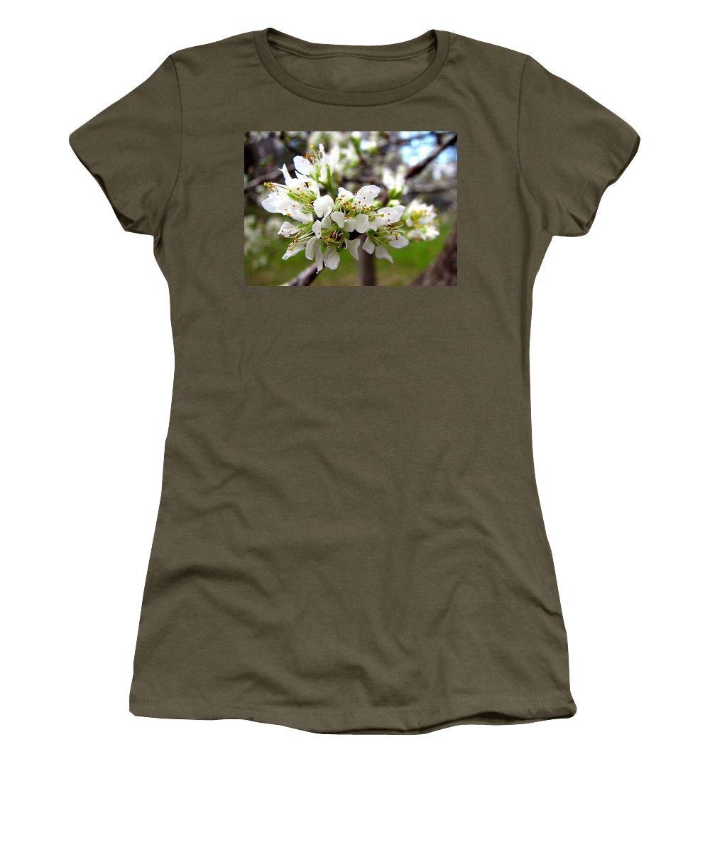 Hog Plum Women's T-Shirt featuring the photograph Hog Plum Blossoms by J M Farris Photography