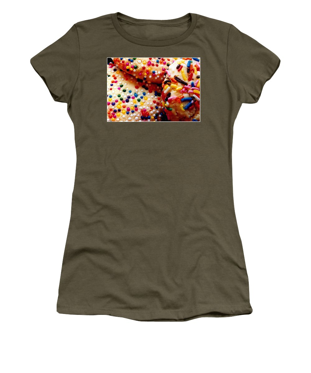 Cookie Women's T-Shirt featuring the photograph Holiday Cookies by Nancy Mueller