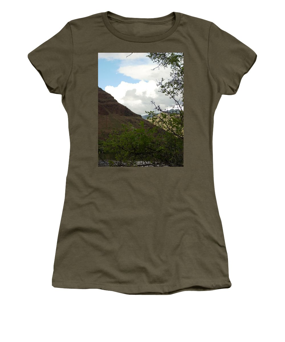 Clouds Women's T-Shirt (Athletic Fit) featuring the photograph Home by Sara Stevenson