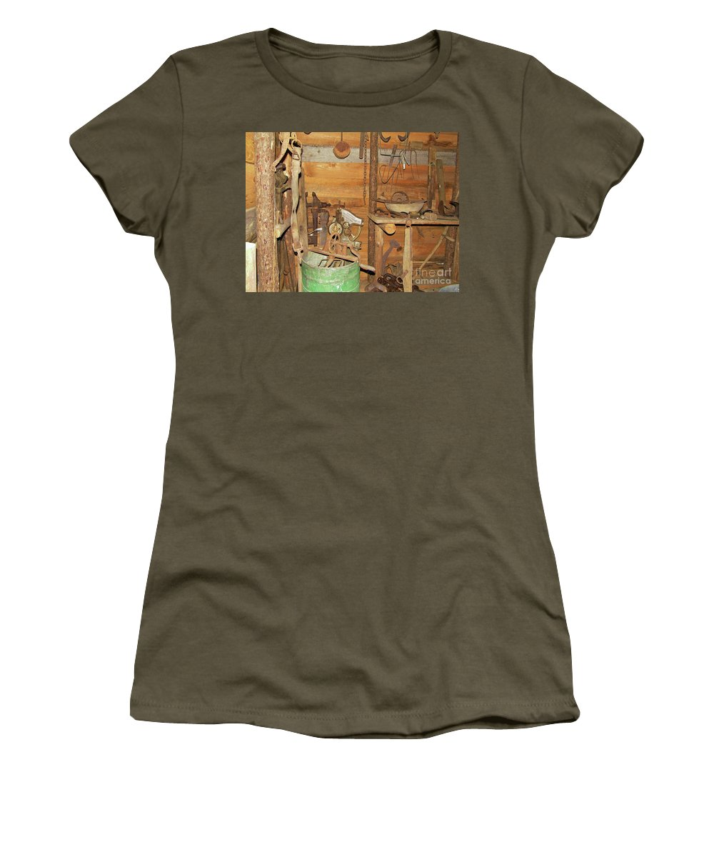 Laundry Women's T-Shirt (Athletic Fit) featuring the photograph Homemade Washing Machine by D Hackett