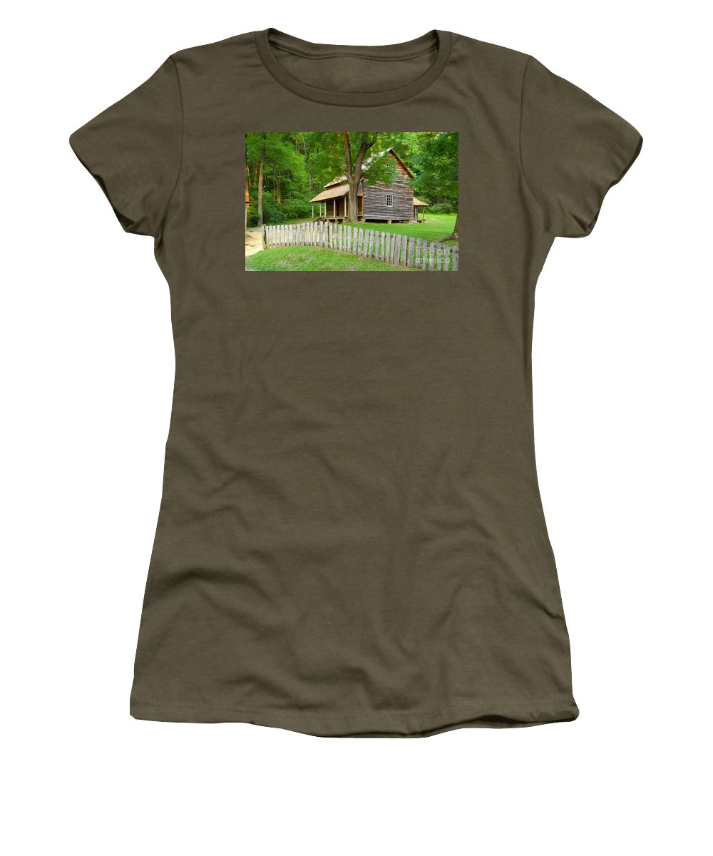 Home Women's T-Shirt featuring the photograph Homestead by David Lee Thompson