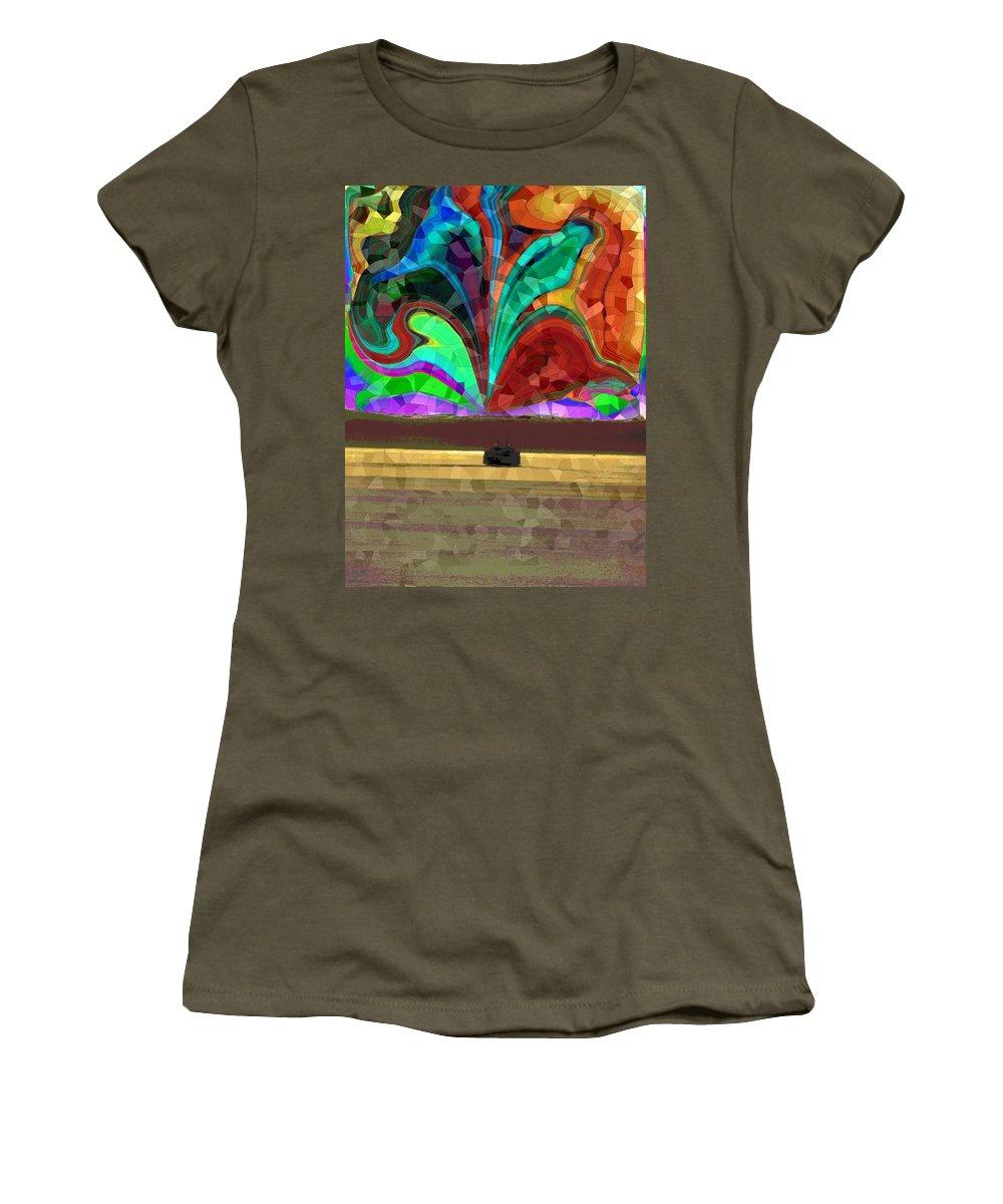 Ferry Women's T-Shirt featuring the photograph Homeward Bound by Tim Allen