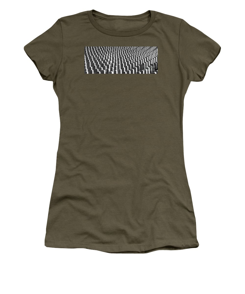 Graves Women's T-Shirt (Athletic Fit) featuring the photograph Honor Of Heroes by Richard Rizzo