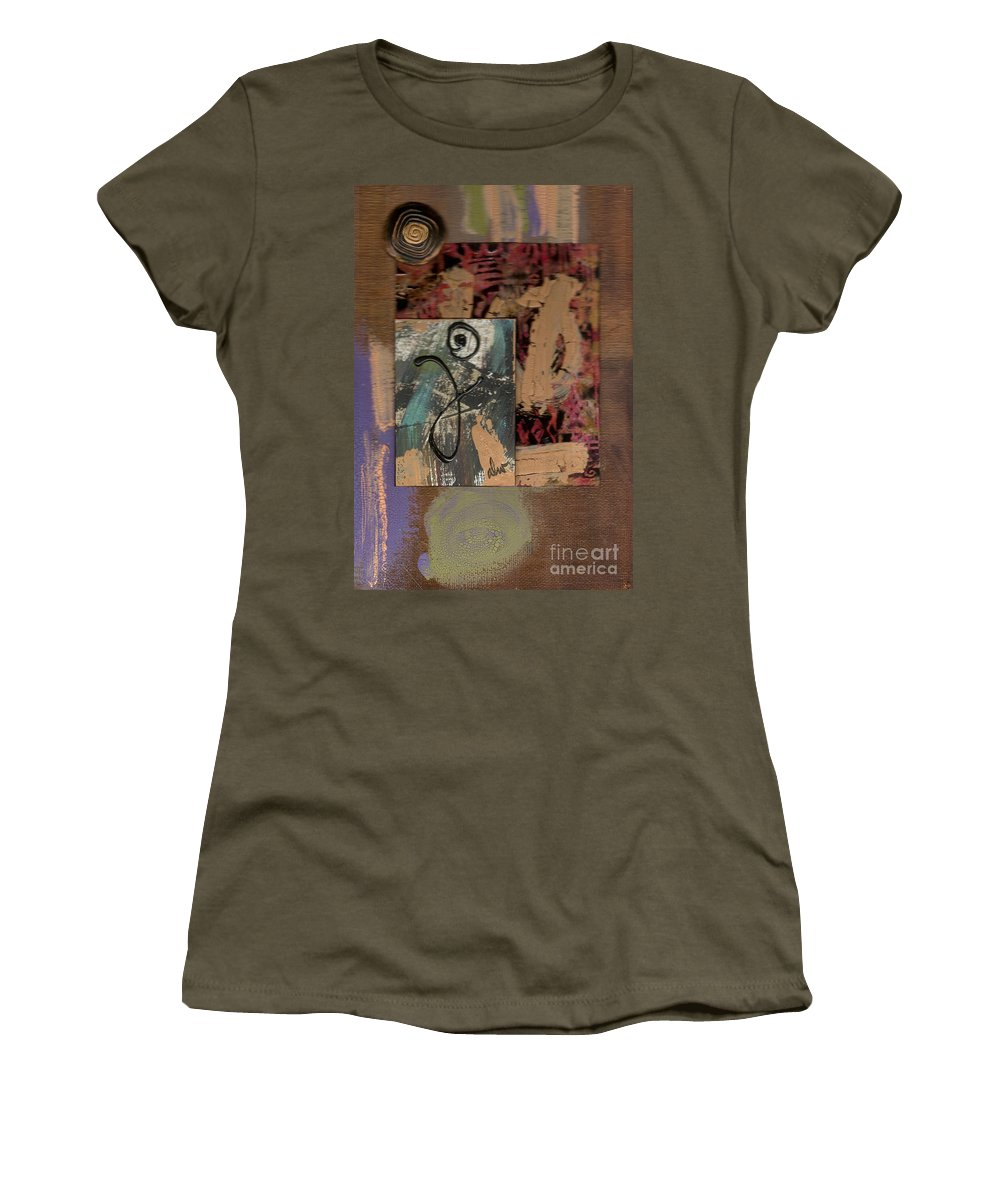 Wood Women's T-Shirt featuring the mixed media Hooray by Angela L Walker