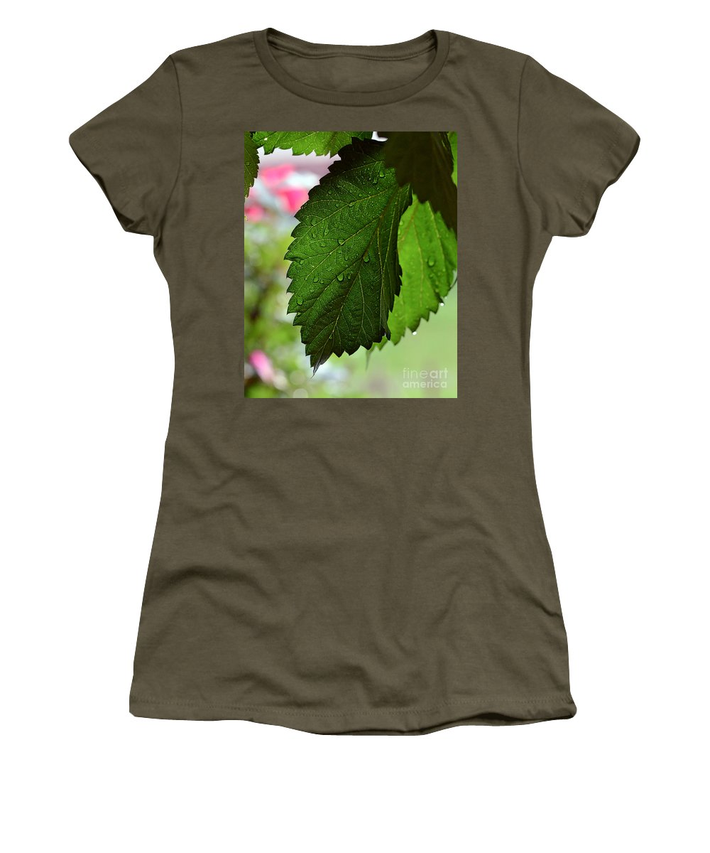Hops Women's T-Shirt featuring the photograph Hops Leaves by Kerri Farley