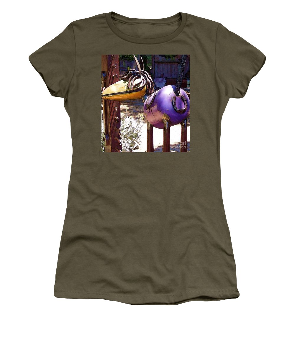 Sculpture Women's T-Shirt featuring the photograph Horse With No Name by Debbi Granruth