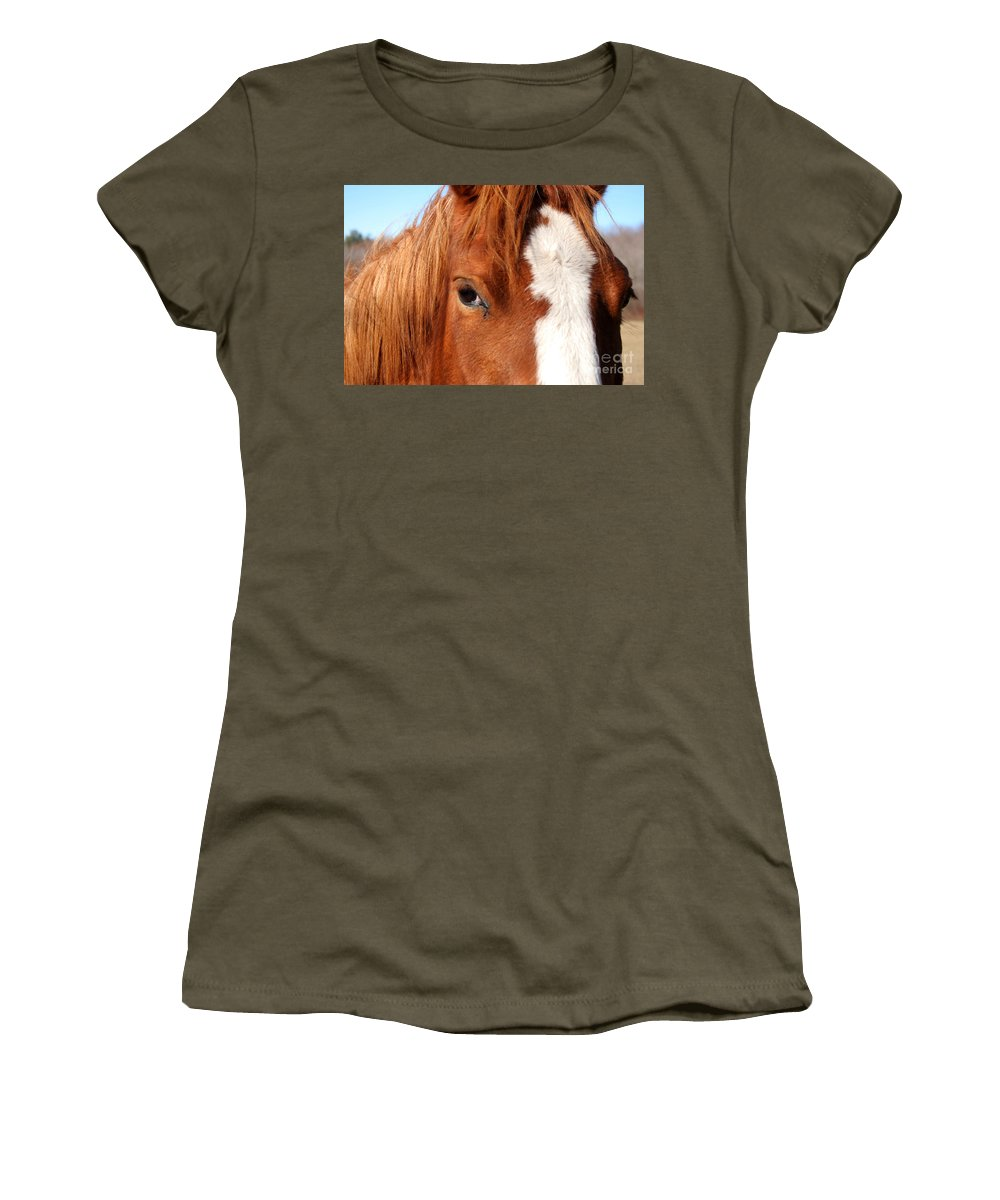Horse Women's T-Shirt featuring the photograph Horse's Mane by Thomas Marchessault
