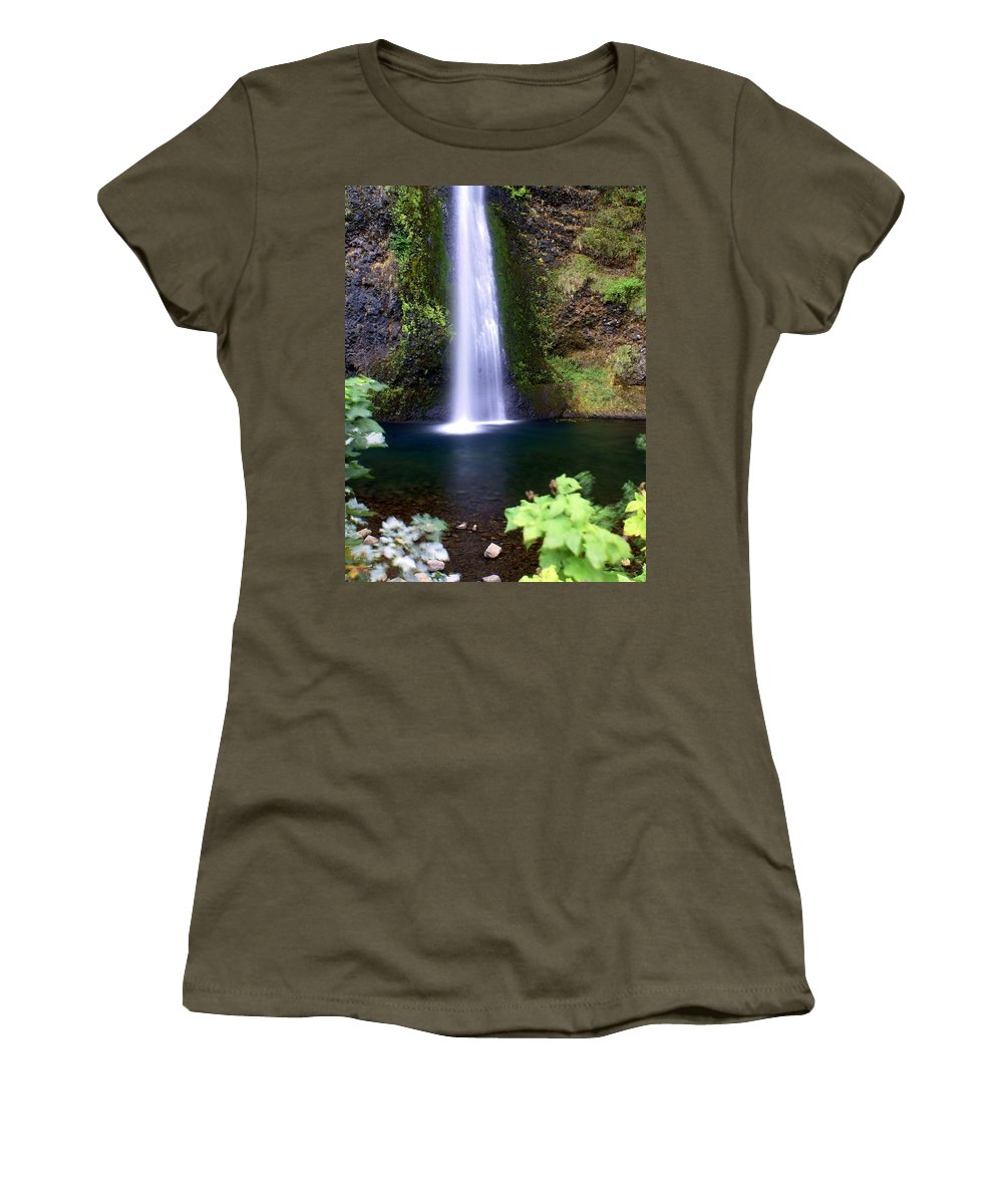 Waterfalls Women's T-Shirt featuring the photograph Horsetail Falls by Marty Koch