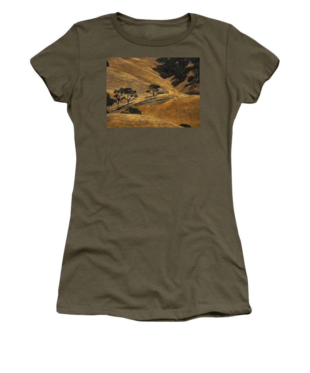 California Women's T-Shirt (Athletic Fit) featuring the photograph Hot Days by Karen W Meyer