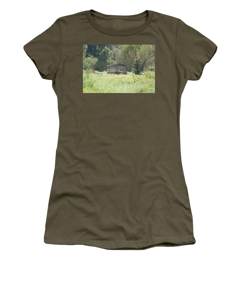 Grass Women's T-Shirt (Athletic Fit) featuring the photograph Huppa In The Fields by Rob Hans