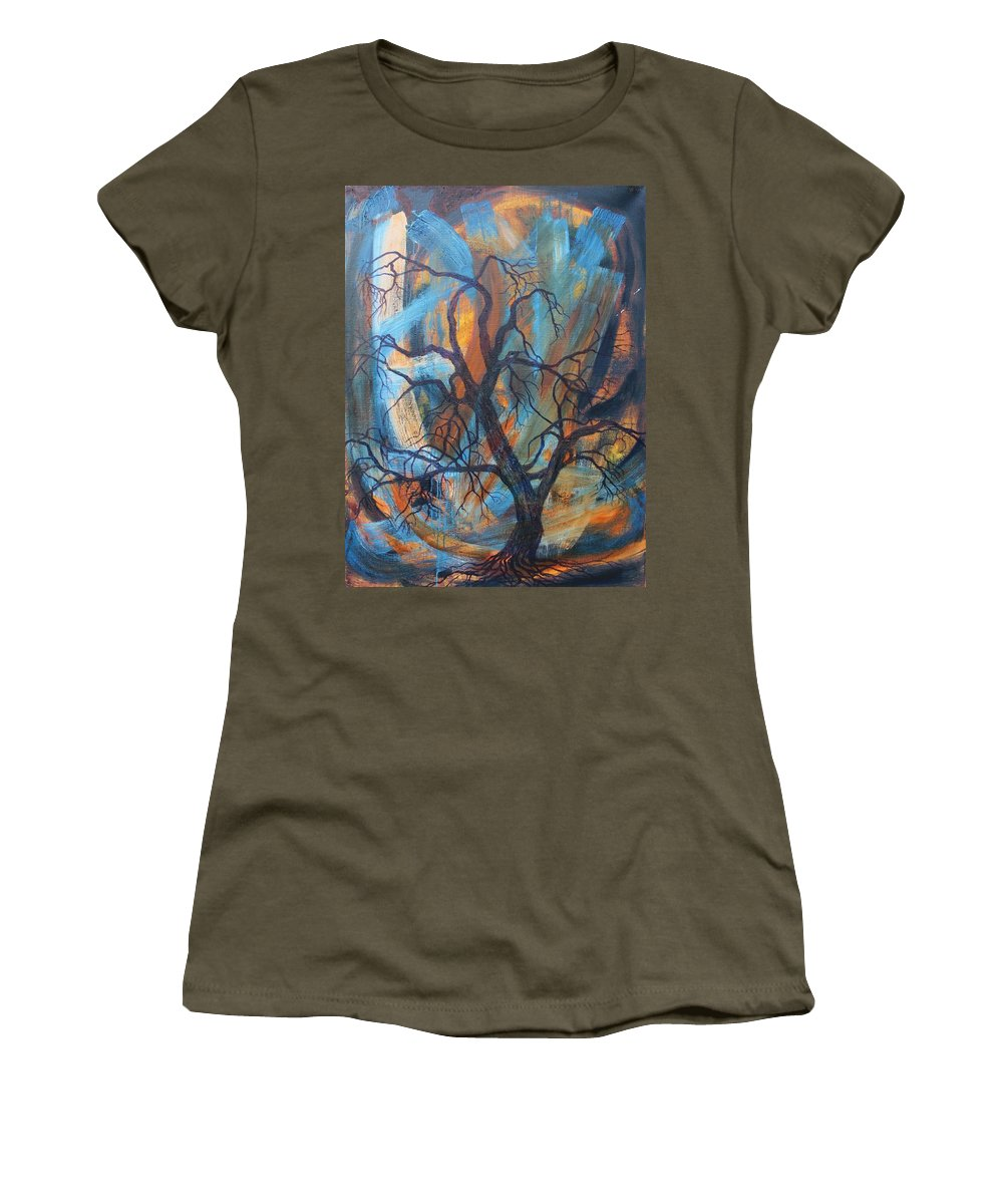 Hurricane Women's T-Shirt featuring the painting Hurricane by Vera Smith
