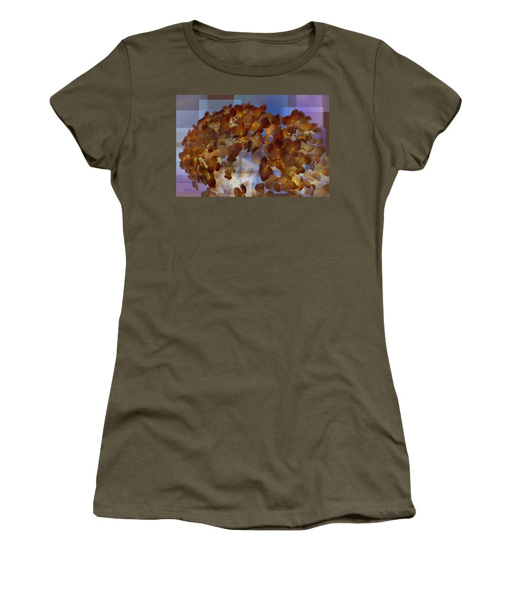 Flowers Women's T-Shirt featuring the photograph Hydrangea 2 by Donna Bentley