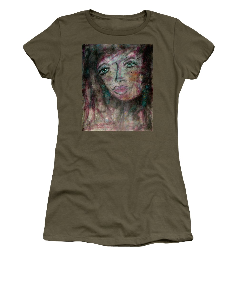 Expressionism Women's T-Shirt featuring the painting I Am Thinking Of You by Natalie Holland