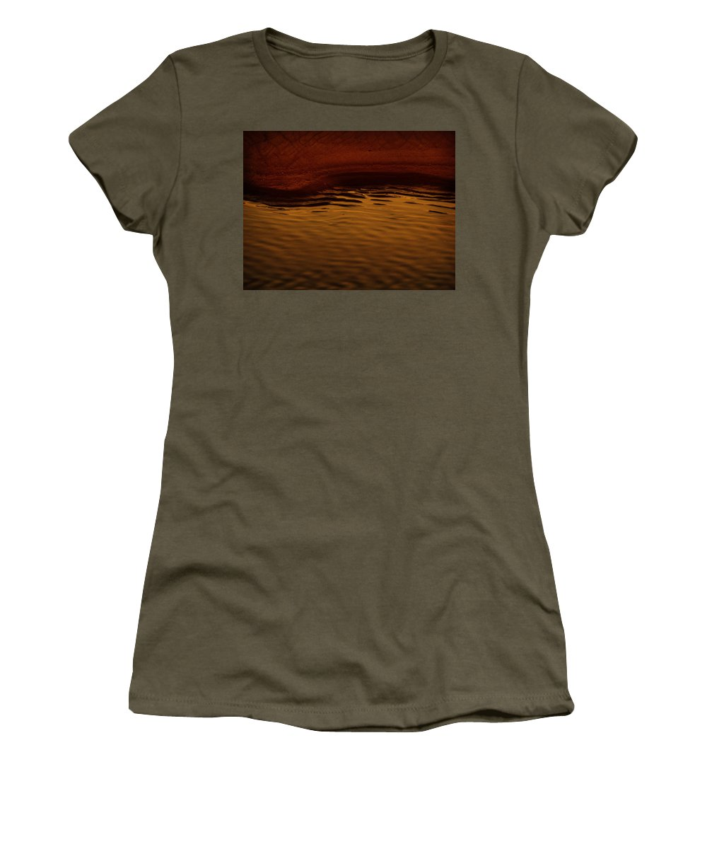 Abstract Women's T-Shirt (Athletic Fit) featuring the photograph I Want To Wake Up Where You Are by Dana DiPasquale