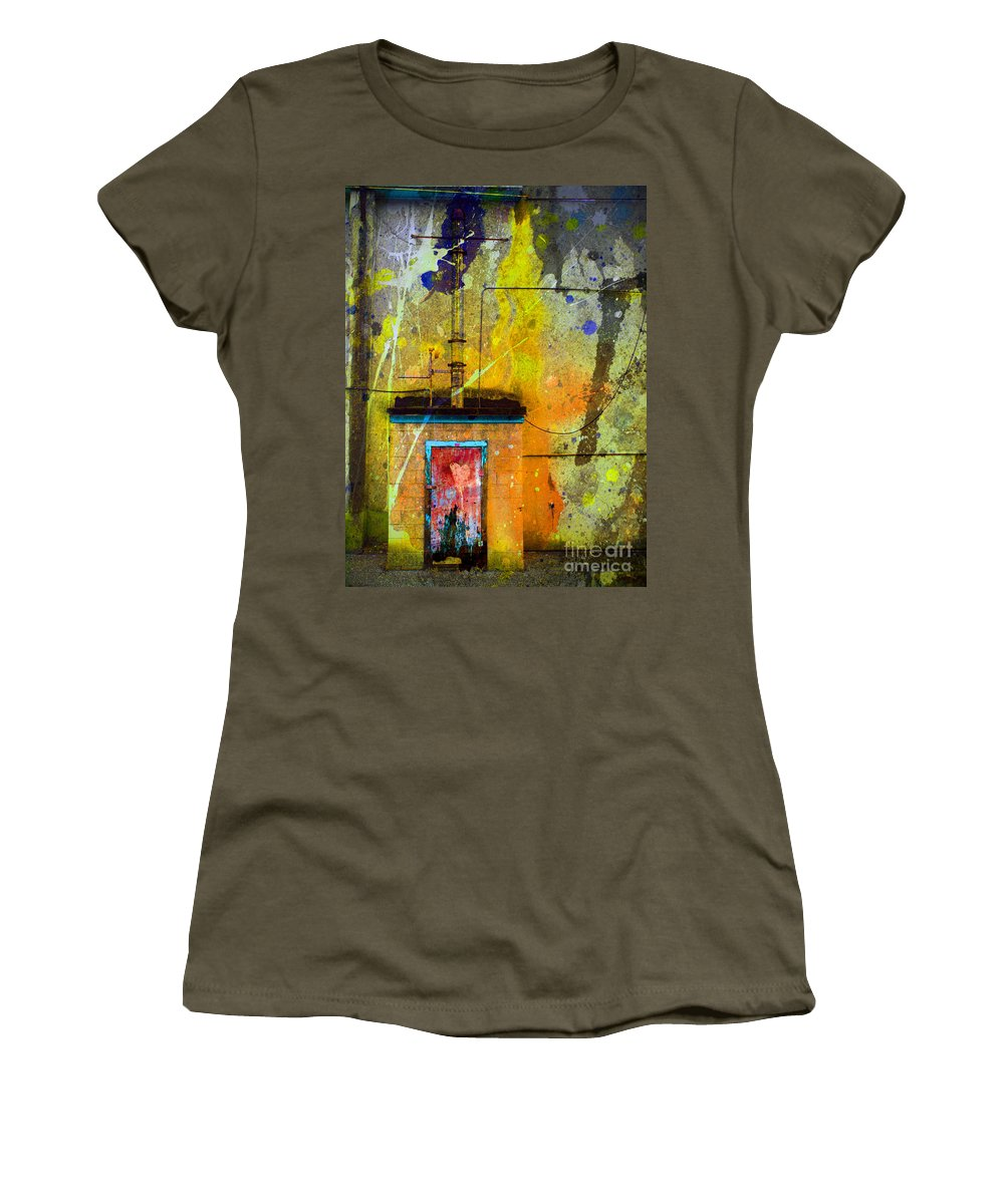 Door Women's T-Shirt featuring the photograph I Wear My Heart On The The Door by Tara Turner