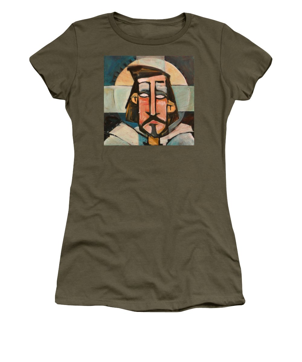 Christ Women's T-Shirt featuring the painting Icon Number 1 by Tim Nyberg