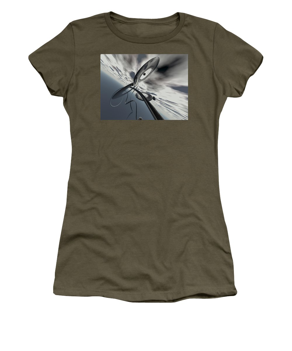 Scott Piers Women's T-Shirt (Athletic Fit) featuring the painting Id2a by Scott Piers